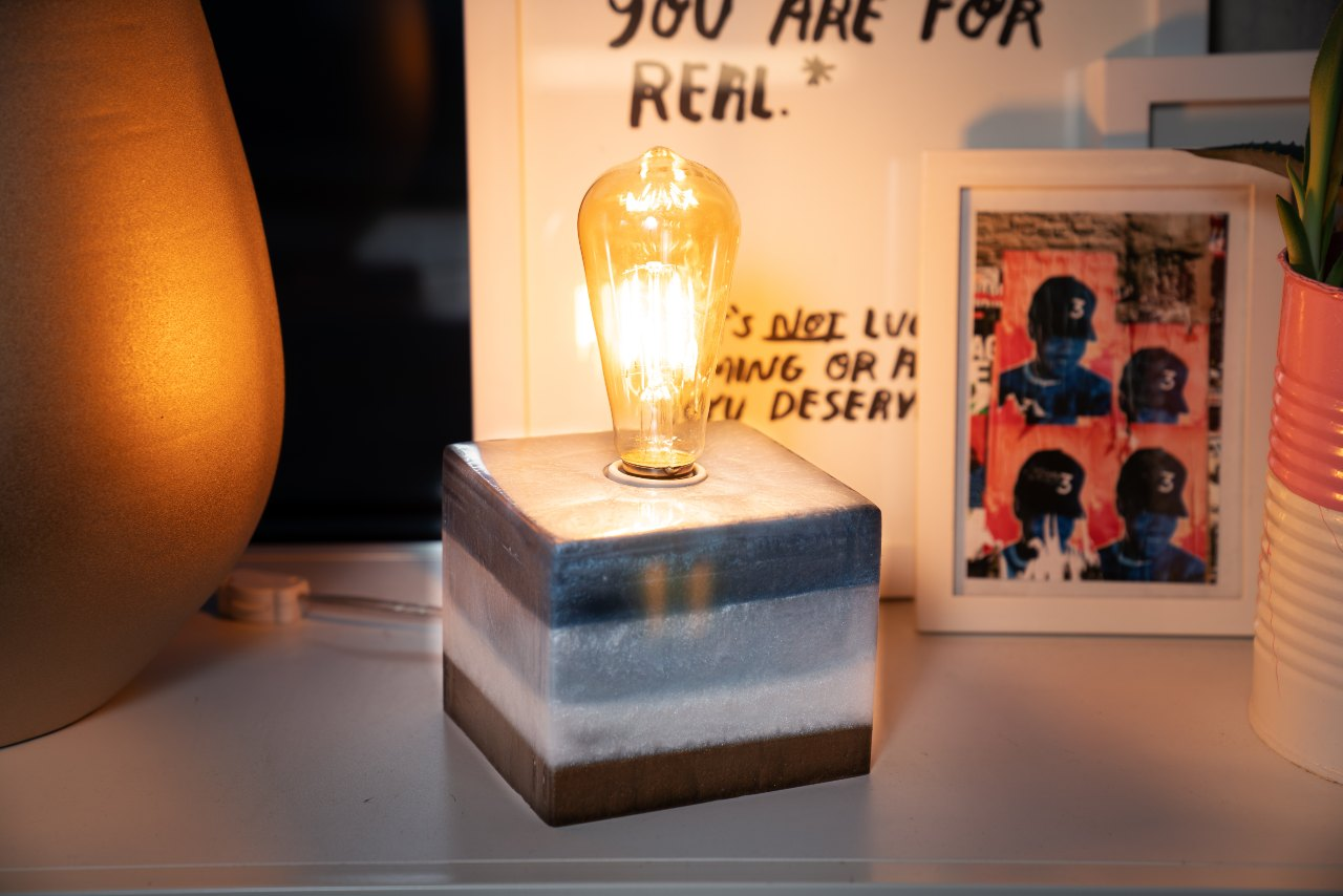 Epoxy Lamp made with Pro Marine Supplies' ProPour epoxy.