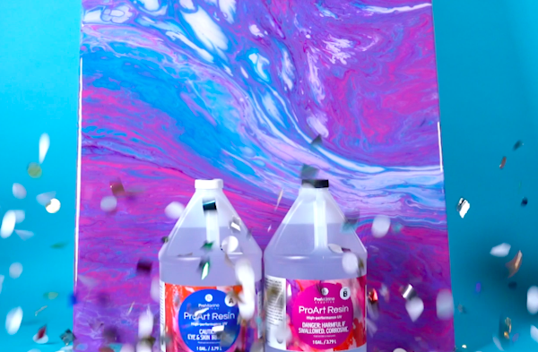How to Make Epoxy Resin Wall Art completed project image by ProMarine Supplies.